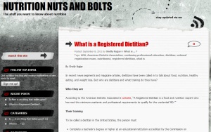 What is a Registered Dietitian? screen shot from Nutrition Nuts and Bolts