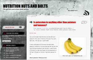 Screenshot from Nutrition Nuts and Bolts potassium post