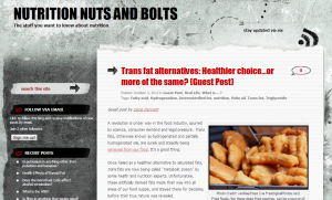 Nutrition Nuts and Bolts guest post on trans fat alternatives