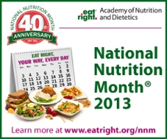 National Nutrition Month 2013