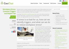 Click to read my Workplace Stress guest post on the CoreChair blog!